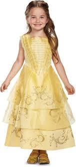 Disney Belle Ball Gown Deluxe Movie Costume, Yellow, X Small (3T 4T)