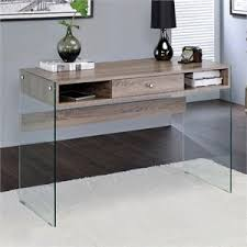 desks home office. ACME Armon Desk In Clear Glass And Gray Oak Desks Home Office P