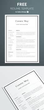 Free Resume Design Simple Resume Template for InDesign Free Download 68