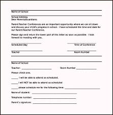 parent teacher conference letters parent conference letter templates 7 teacher letter templates 7 free