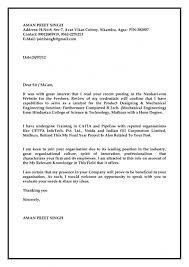 Sample Cover Letter For Pharma Freshers