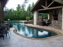 patio with pool. Modren Pool Freeform Custom Swimming Pool With Covered Patio For With