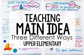 Teaching Main Idea Of Nonfiction Text 3 Different Ways