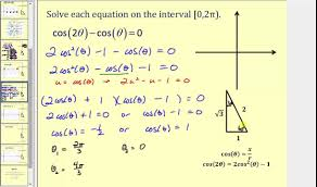 solving trigonometric equations using identities and substitution