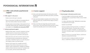 the following are general principles applicable to the treatment of every disorder