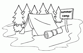Small Picture Summer Camp Tent Sleeping Bag Coloring Page Wecoloringpage