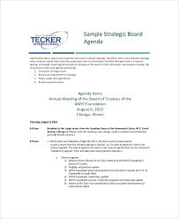 12 Strategy Meeting Agenda Templates Free Sample Example Format