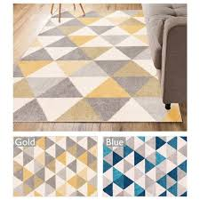 well woven mid century modern geometric area rug 7u0026x2710 mid century modern rugs blue l42 century