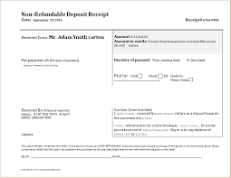 Deposit Receipt Sample Non Refundable Payment Agreement Non Refundable Deposit Receipt