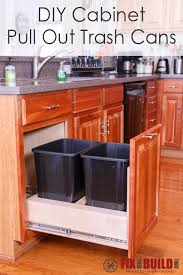 Kitchen cabinet trash can Hidden Diy Pull Out Trash Can In Kitchen Cabinet Fix This Build That Diy Pull Out Trash Can Fixthisbuildthat