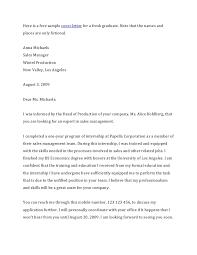 Cover Letter Sample For Fresh Graduate Format Adriangatton Com