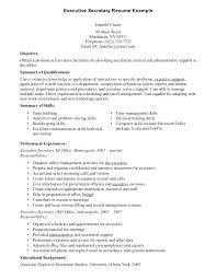 sample school secretary resume captivating executive secretary resume 8  resume sample sample resume for school secretary .
