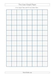 Two Line Graph Paper With 2 Cm Major Lines And 0 5 Cm Minor