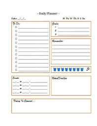 Daily Planner To Do Lists Busy Day Teacher Or Students