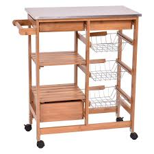 Kitchen Island Table On Wheels Amazoncom Kitchen Islands Carts Home Kitchen Storage Carts