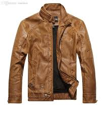 2018 fall men s leather motorcycle factory s european style wash faded leather jacket collar plus velvet men s leather jacket from maidon