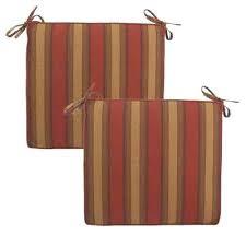 hampton bay outdoor chair cushions red tweed stripe deluxe outdoor chair cushion 2 pack hampton bay