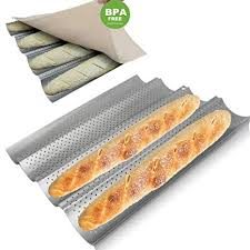 Walfos Baguette Pan Set-Food Grade Nonstick ... - Amazon.com