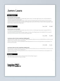 Word Format Cv Template Free Download Professional Doc Modern Resume
