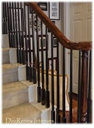 Painted Wood Stairs Great Tutorial On Re Doing Stairs Banisters For The Home