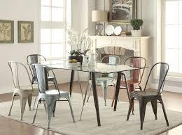 Dining Table Having Round Tapered Legs Scandinavian Dining Room
