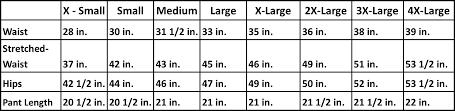 Boardshorts Size Chart Hautebutch
