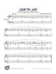 Ode to Joy (Beethoven) - Beginner-Easy Piano Sheet Music (Digital ...