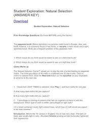 Check spelling or type a new query. Student Exploration Natural Selection Answer Key