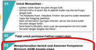Contoh soal akm online level 4 kelas 7 dan 8 smp ini sebagai gambaran bentuk soal asesmen kompetensi minimum akm khususnya untuk peserta didik kelas 7 dan 8 smp. Contoh Soal Asesmen Kompetensi Minimum Pada Gladi Bersih Unbk 2020 Widoajiwibowo Info