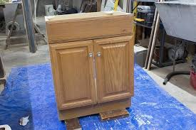 how to paint laminate cabinets a