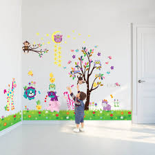 c3wad00001 walplus wall sticker owl moon animal tree