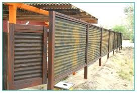 corrugated metal fence privacy cost panels