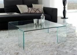 Contemporary Transparent Glass Square Coffee Table