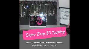 easy and quick 3 jewelry display for paparazzi accessories