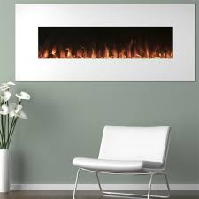 electric fireplace wall mounted color changing led flame and remote 50 inch by northwest white com