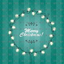Christmas Lights wreath frame - round festive lights garlands ...