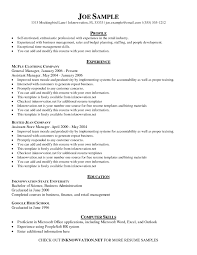 Profile Resume Samples | Resume For Your Job Application