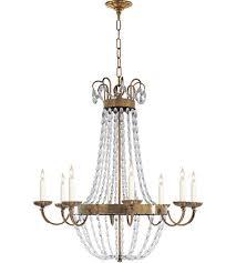 visual comfort chc1408ab sg e f chapman paris flea market 8 light 32 inch antique burnished brass chandelier ceiling light in antique burnished brass