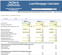 mortgage amortization comparison calculator mortgage calculators for canadian home buyers