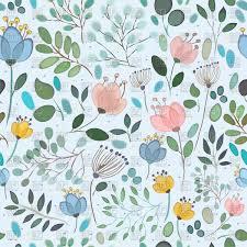 Free Floral Backgrounds Elegance Seamless Pattern With Floral Background Vector Illustration