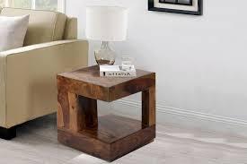 Sheesham Bedroom Furniture Boxy Natural Color Sheesham Wood End Table Furniture