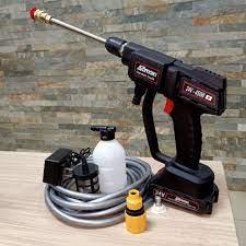 Máy rửa xe bằng pin samaki- Máy xịt rửa đa năng