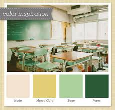 Green, Gold and Ivory Color Palette