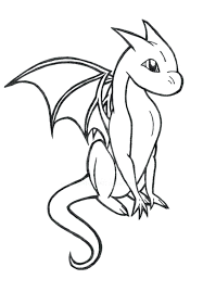 Easy Coloring Pages Of Dragons