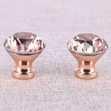 8 Pièces K9 Cristal Diamant Bouton Or Rose Meubles Cuisine Tiroir