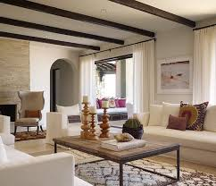 moroccan living rooms modern ceiling design. Modern Moroccan Living Room Design With Beautiful Espresso Stained Exposed  Wood Beams, White Slipcovered Sofas And Chairs, Rustic Brickmaker\u0027s Coffee Table, Rooms Modern Ceiling A