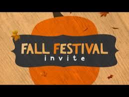 Fall Festival Invite Centerline New Media Kids Videos