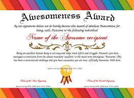 Certificate Of Awesomeness Template Collection Of Solutions For Certificate Of Awesomeness Template Also