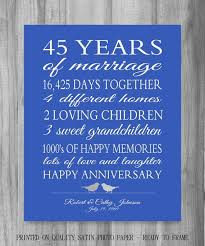 personalized wedding anniversary gift the perfect 45th anniversary gift or any year our life story stats of the couples life together this is a unique
