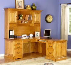 oak desks for home office. Image Of: Executive L Shaped Office Desk With Hutch Oak Desks For Home I